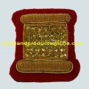Drum No.1 Dress Badge - Gold on Red