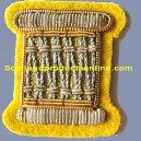Drummer Gold On Cavalry Yellow Badge