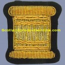 Drummer Badge Gold On Navy