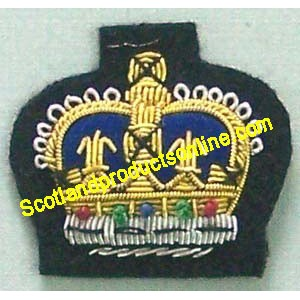 Crown Embroidered Cap Badge