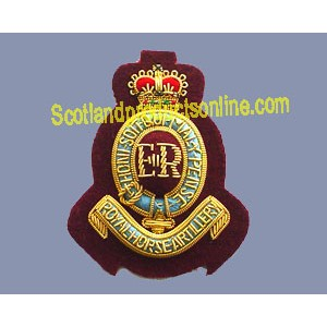 7TH ROYAL HORSE ARTILLERY BERET CAP BADGE