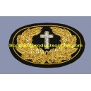 Civil War Embroidered Hat Badge Chaplain Cross