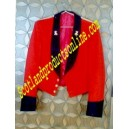 Red Mess Jacket Uniform With Black Cuffs