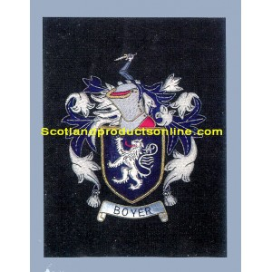 Boyer Family Crest/Coat Of Arms