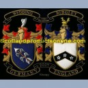 Double Family Crest/Coat Of Arms Set