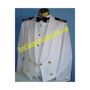 White Cotton Mess Jacket