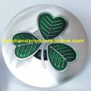 Irish Shamrock Plaid Brooch