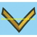 1 Bar Chevron Gold on Rifle Green No1