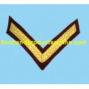 1 Bar Chevron Mess Dress Gold on Para Maroon