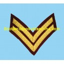 2 Bar Chevron Mess Dress Gold on Para Maroon