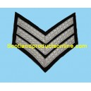3 Bar Chevron Mess Dress Silver on Black