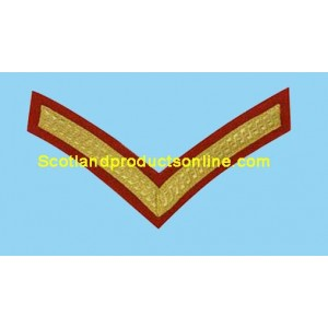 1 Bar Chevron Gold on Red No1