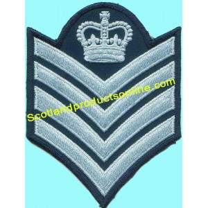 4 Bar Embroidery Chevron With Crown