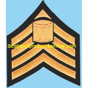 4 Bar Embroidery Chevron With Drum