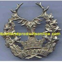 "Metal Cap Badge ""Gordon Highlanders WWI/WWII Pattern"""