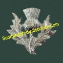 Thistle Glengarry Metal Cap Badge