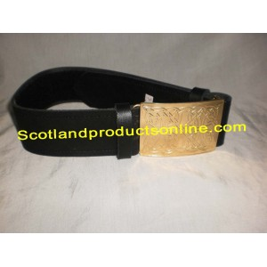 Piper and Drummer Leather Waist Belt with Buckle