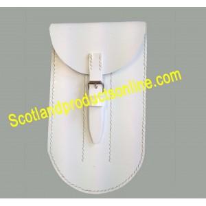 White PVC Flute Pouch Fb