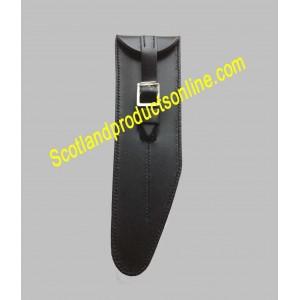 Black Leather Piccolo Pouch