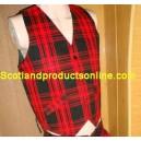 Red Tartan Waistcoat/Vest