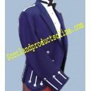Regulation Doublet & Vest In Royal Blue & Metallic Braid