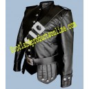 Black Leather Doublet With Cross Belt & Waist Belt Free