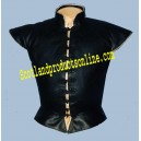 Black Leather Doublet Without Sleeve