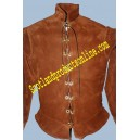 "LACED ""DAGET"" LEATHER DOUBLET"