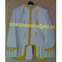 White Cotton Piper/Drummer Doublet Jacket
