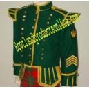 Green Bagpiper Doublet Jacket