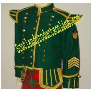 Green Bagpiper/Drummer Doublet Jacket