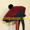 Maroon Balmoral Hat