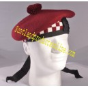 Maroon Dicing Balmoral Hat