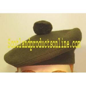 Khaki Military Balmoral Hats