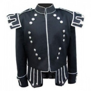Gray Military Piper/Drummer Doublet Jacket