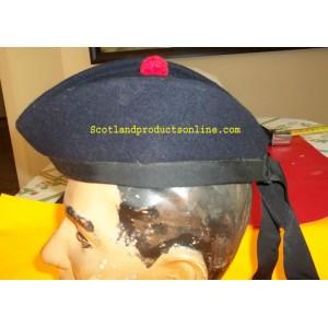 Dark Navy Scottish Glangarry Hat
