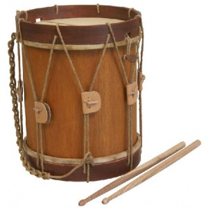 "Renaissance Drum 10"" x 11"" with beaters"