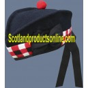 Navy Scottish Glengarry Hat