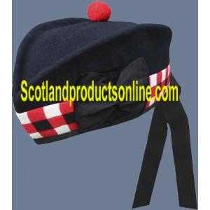 Navy Scottish Glengarry Hat
