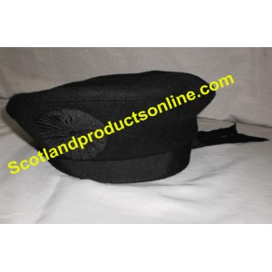 Black Irish Caubeen Hat
