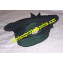 Dark Green Irish Caubeen Hat