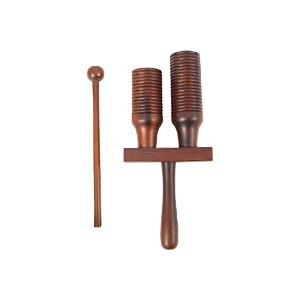 Double Block Wooden Agogo Bell with Beater