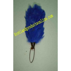 Blue 3 Inch Feather Hackle