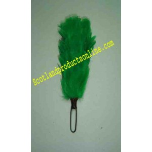 Green 3 Inch Feather Hackle