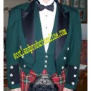 Green & Black Prince Charlie Jacket And Vest