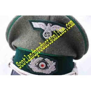 WWII WH Mountain Troop Officer's Visor Cap