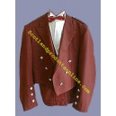 Red Prince Charlie Jacket With Waistcoat