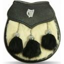 Sami Dress Sporran Black Watch Crest Badge with Tassels