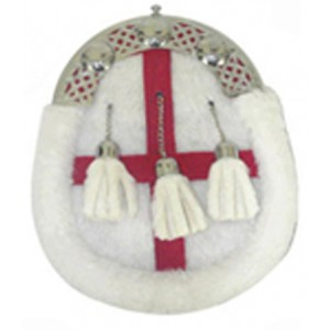 Rabbit Hair Sporran Chrome Cantle with Tassels