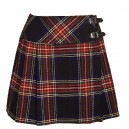 Scottish Black Stewart Tartan short Kilt